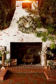 pretty brick fireplace at the historic peachtree house in orlando florida home