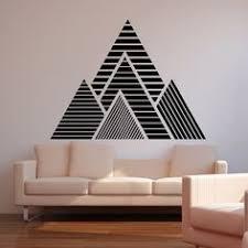 montain dco murale masking tape. Geometric WallGeometric MountainTape  ArtWall ...