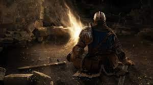 Dark Souls, bonfire, sword, character ...