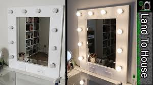 diy makeup vanity mirror. Brilliant Diy Makeup Vanity Mirror With Lights DIY Step By With Diy U