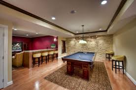 best basement lighting. Best Enchanting Basement Lighting With Recessed LED Light And Wall Sconce Plus Billiard Decor M