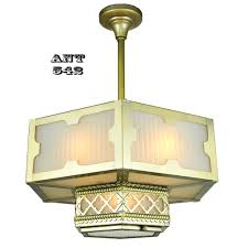 arts and crafts gothic style hexagonal ceiling panel light chandelier ant 542 for