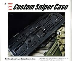 pages seventy eight and seventy nine of larue tactical s larue accuracy report outline a premium option for creating a custom foam case