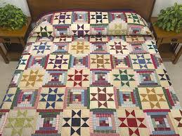 225 best amish quilt patterns images on Pinterest | Colors ... & Log Cabin with Ohio Stars Quilt -- magnificent well made Amish Quilts from  Lancaster ( Adamdwight.com