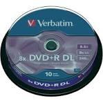 Диски DVD+R Verbatim 8.5Gb 8x Matte Silver (43666)