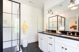 interior white and black bathroom with yellow accents transitional astonishing countertop rustic 7 black