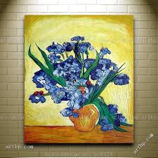 vase of irises van gogh masterpieces reion oil painting post canvas wall art sets scarface painting