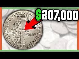 207 000 Rare Dime Worth Money Mercury Dime Full Split