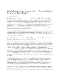 Tenure Recommendation Letter From Student Example Tenure Recommendation Letter Magdalene Project Org