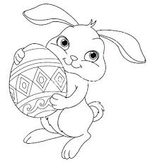 Cute Bunny Coloring Pages Printable Rabbit Colouring To Color Photos