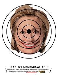 Hillary Clinton Target 8 5x11