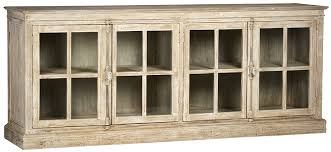olson sideboard with glass doors in white wash finish