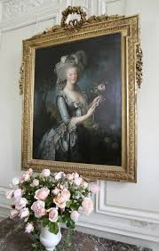 a painting of marie antoinette is seen in the cau of versailles