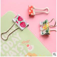 Flower Paper Clips Us 2 19 6 Pcs Pack Fresh Style Flower Printed Metal Binder Clips Notes Letter Paper Clip Office Supplies Fod In Clips From Office School Supplies