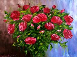 flower paintings handmade livemaster handmade oil painting red roses roses