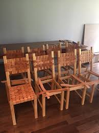 ikea hack ivan chair woven leather dining chair that i made cost 80 per