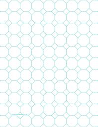 Printable Paper Grids Graphs Octagon Hexagon Music