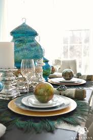 Peacock Inspired Bedroom Peacock Bedroom Ideas Peacock Inspired Dining Room Tablescape