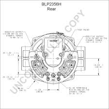blp2356h alternator product details prestolite leece neville blp2356h rear dim drawing