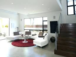 living room rug placement awesome round red gy area rugs white leather semi circular sectional sofa