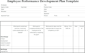 Free Staff Development Plan Template Basic Employee Corrective