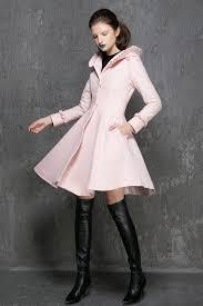 pink jacket wool coat womens coats winter coat pink wool coat