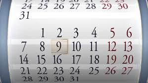 Calendar Animated Calendar Of A Video De Stock Totalmente Libre De