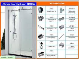 twin roller glass sliding shower door hardware