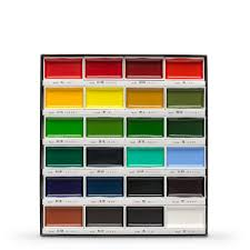 Gansai Tambi Color Chart Kuretake Gansai Tambi Japanese Watercolor 24 Color Large Pan Set