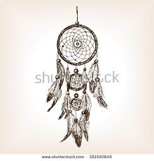 Dream Catchers Sketches Dream Catcher Sketch Style Vector Illustration Stock Vector 63
