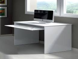 office desk small. Grey Office Furniture White Computer Desk With Keyboard Tray Hutch And Drawers Task Desks Small D