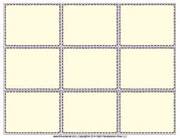 Printable Flash Card Template Blank Flash Card Templates Printable Flash Cards Pdf Format