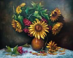 sunflowers oil painting painting 40x50x2 cm 2017 by natalja picugina contemporary painting