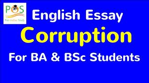 Essay Outline Corruption Part Youtube In India Kannada Pdf Urdu