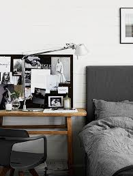 cozy home office. Bedroom With Workspace By The Bed | Photo Kristofer Johnsson, Styling Pella Hedeby Cozy Home Office U
