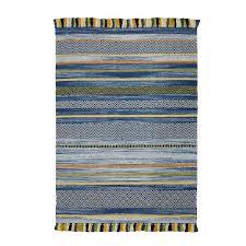 blue striped rug78