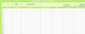 Accounting General Ledger Template Contra Voucher Template Debit Credit Ledger Excel Teran Co