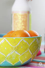 How To Decorate A Bowl How to Decoupage a Plastic Bowl with Scrapbook Paper Live Colorful 25