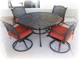patio set with swivel chairs awesome round patio table sets and swivel dining chairs the kienandsweet