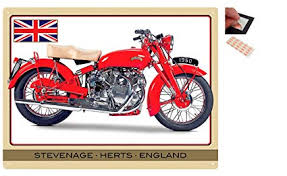 bundle 2 items vincent touring rapide motorcycle metal wall art sign 12