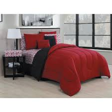 geneva home fashion roses 9 piece black red king bed in a bag ros9pckingghbr the home depot