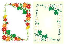 Flower Border Designs For Paper Flower Design Border Beautiful Floral Design Floral Border Design