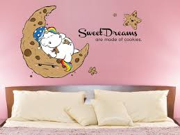 Unicorn Sweet Dreams Are Made Of Cookies Einhorn Wandtattoo