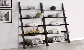 5 tier leaning ladder shelf for outstanding home furniture ideas