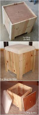 Impressively designed wood pallet seat idea with the storage capacity in it  is all here for