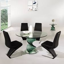 modern glass dining room sets. Swirl Glass Dining Table Amazing Unique Modern Room Chairs With S Shape Metal Sets E