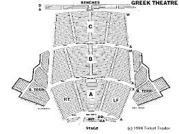 greek theater seating chart