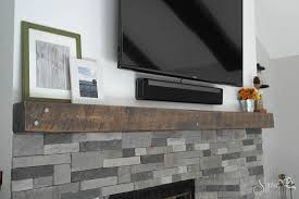 airstone easy rustic fireplace reclaimed wood mantle how to sypsie designs