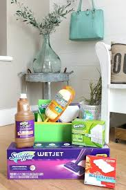 house warming ideas package up all of your favorite cleaning supplies and a few fun goos for practical housewarming return gift india