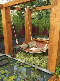 Relaxing And Cozy Outdoor Hanging Beds